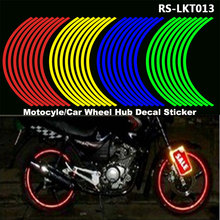 RASTP 16 Strips Motocross Bike Motorcycle Wheel Tire Reflective Rim Sticker Safety Reflector 18 4 Car Styling RS3-LKT013