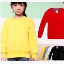 Розничная и ; сезон весна-осень; Детский свитер; хлопковый пуловер с длинными рукавами для маленьких мальчиков и девочек; повседневные однотонные топы для детей