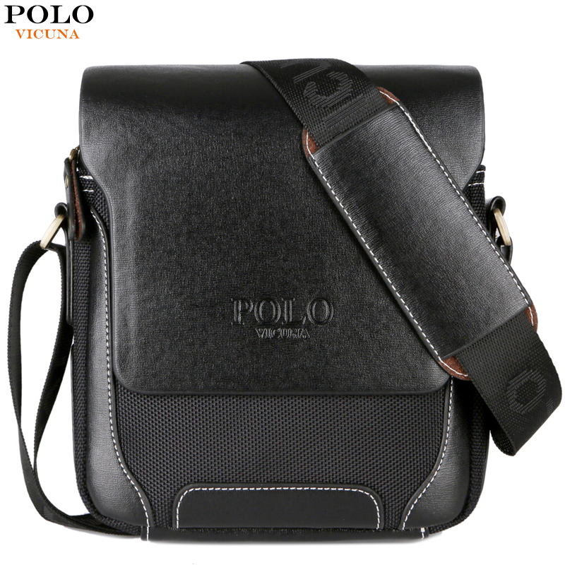 VICUNA POLO New Arrival Solid Brand Men Crossbody Bag Male Casual Travel Simple Style Leather Shoulder Bag Man Messenger Bags