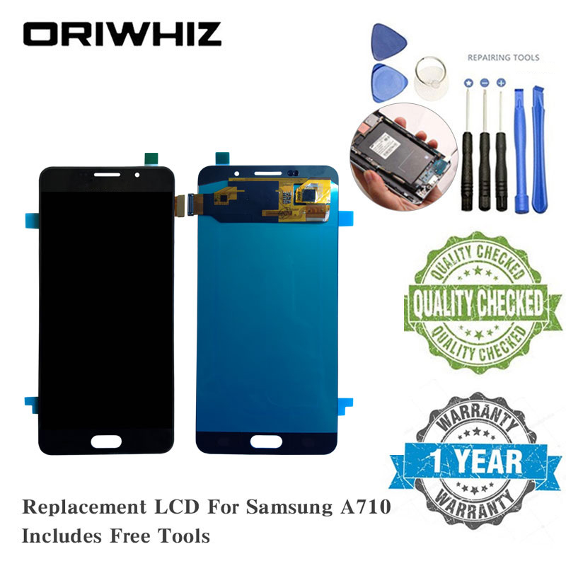 Oriwhiz OLED For <font><b>Samsung</b></font> A710 <font><b>A720</b></font> J710 <font><b>LCD</b></font> Screen Replacement Display Touch Screen Digitizer Completed with Free Repairing Tool image