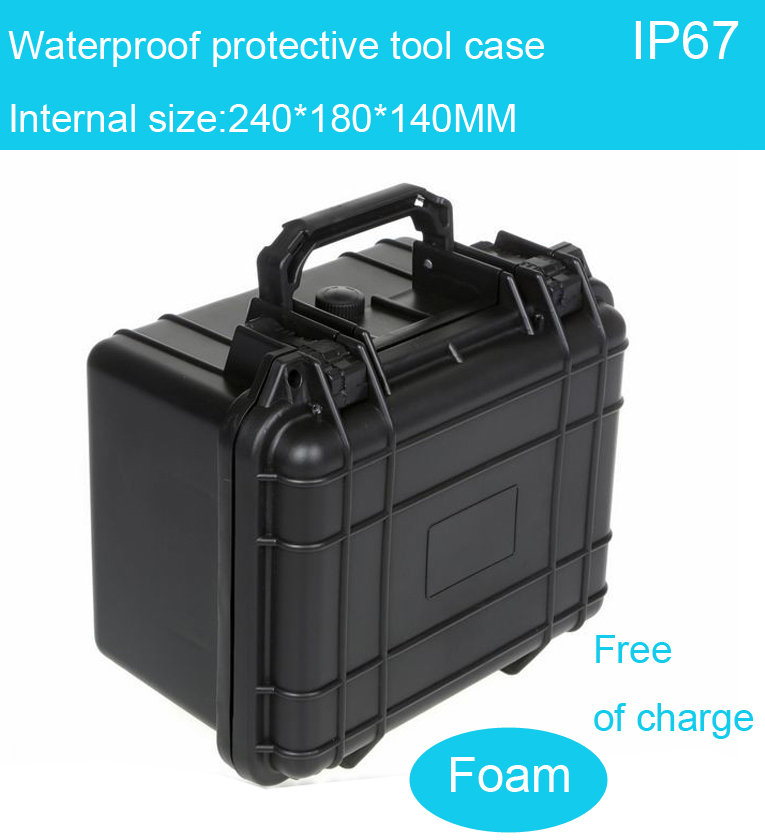 high quality Waterproof tool case toolbox Camera Case Instrument box suitcase Impact resistant sealed with pre-cut foam lining