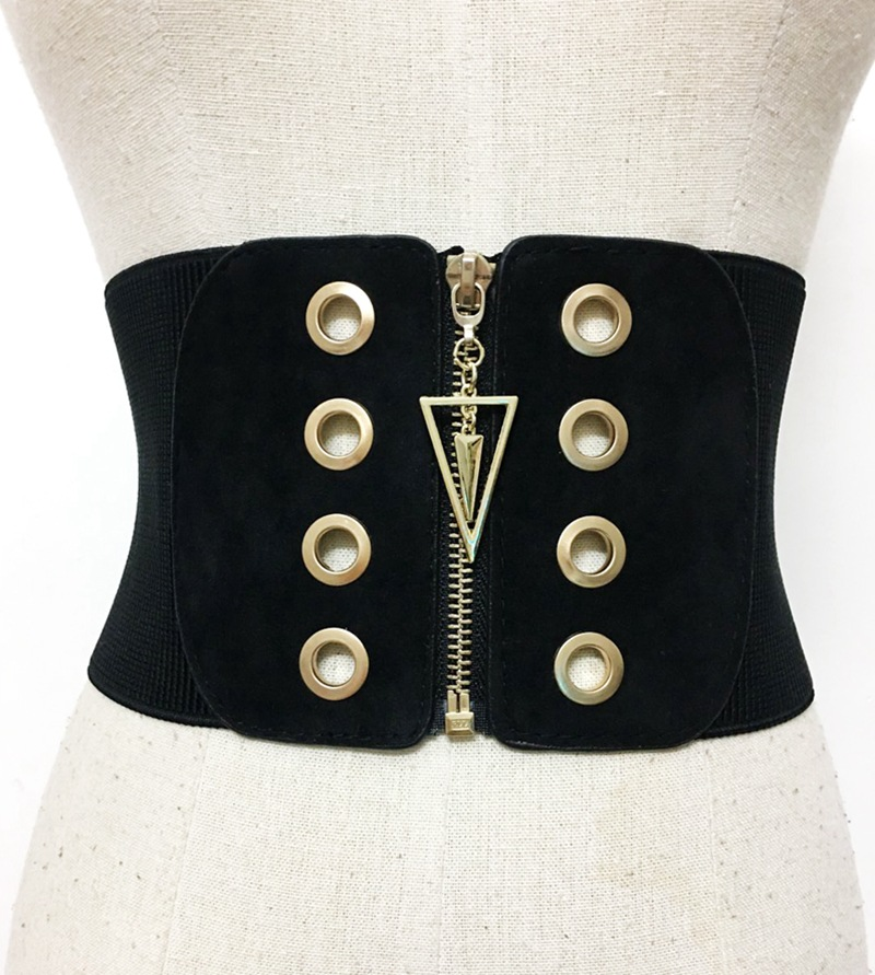 Back To Search Resultsapparel Accessories Strong-Willed Sexy Women Corset Belt Pu Leather Cummerbunds Zipper Bandage Hot Elastic Cincher Wide Waistband Cummerbund Black For Fast Shipping