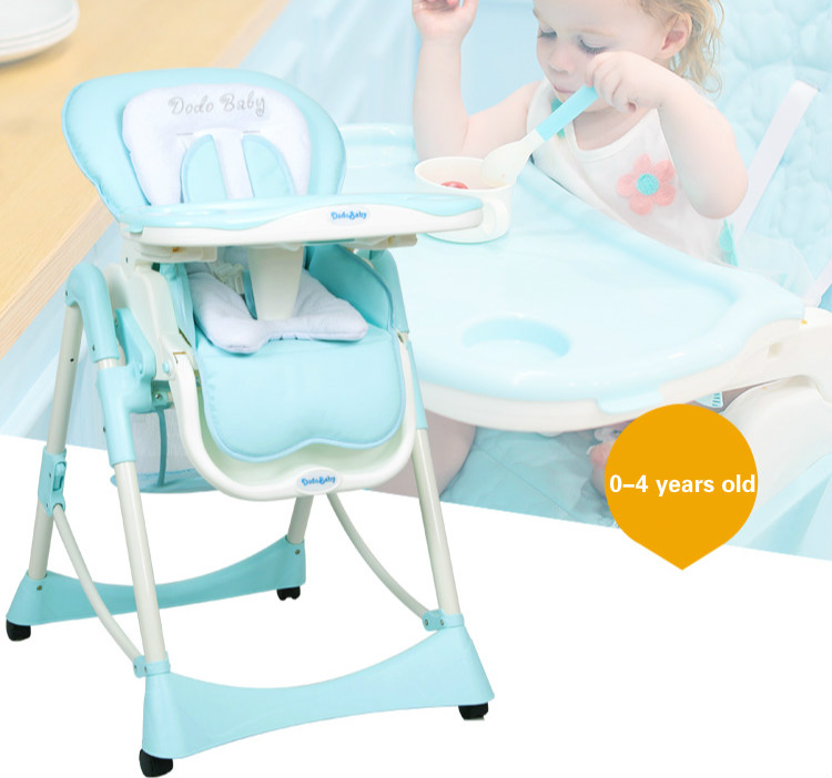Super Soft Luxury Baby Dining Chair Comfortable High Chair Adjustable Baby Lying Chair Multifunctional Baby Feeding Chair C01