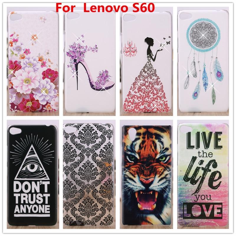 Untuk Kes Lenovo S60, Sarung Penutup Plastik Keras 3D Berlian Kristal Untuk Sarung Telefon bimbit Lenovo S60 S60T