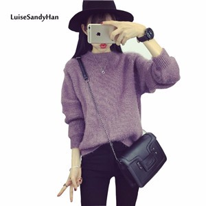 2016-Winter-Women-Sweater-New-Fashion-Computer-Knitted-Pullovers-High-Quality-Solid-Sweaters-O-Neck-Pull