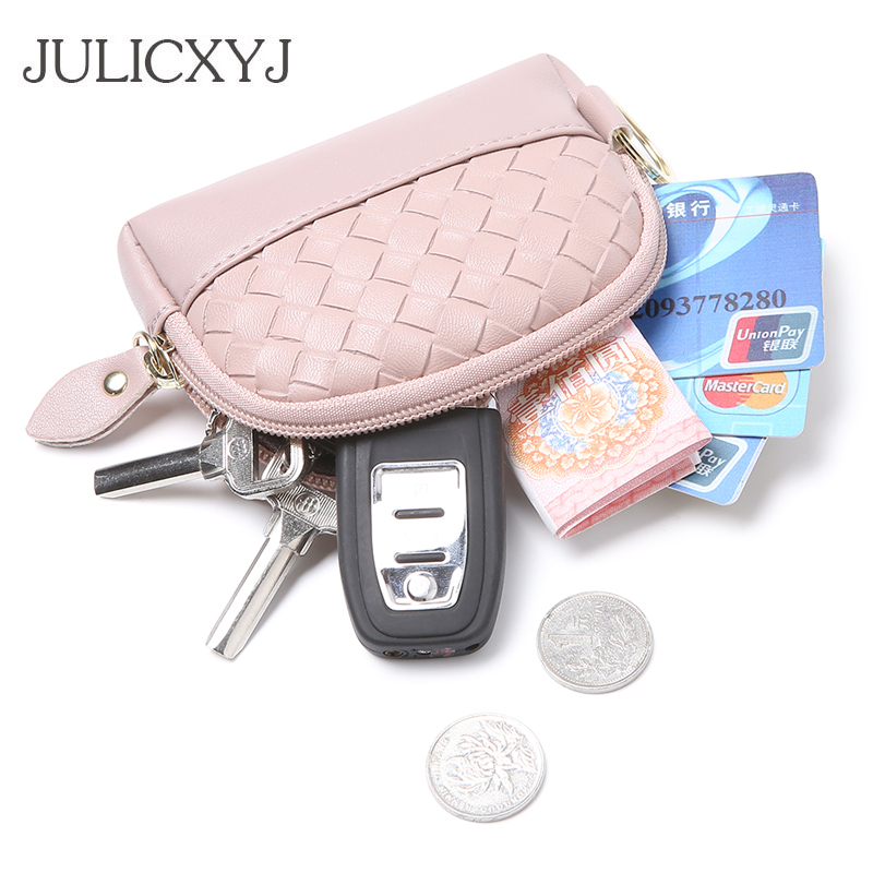 JULICXYJ Brand Women Coin Purse Fashion Delicate Clutch Mini Wallet Cash Cards Key Coins Bag With Keychain For Femme Female 2018