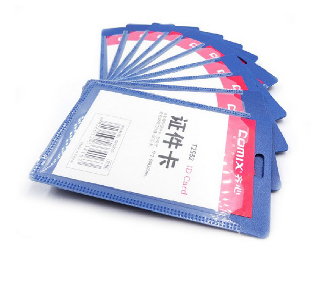Official Work Card Set Lanyard Solid Pp Id Holders Company Office Supplies T2553 OFF006