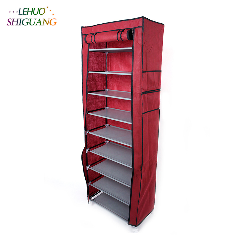Single row 9 grid Shoe cabinet Non-woven fabric organizer storage cabinet Assembly shelf Shoe rack home living room Furnitu double row 12 grid shoe rack wine red non woven organizer storage cabinet assembly shelf shoe cabinet home living room furniture