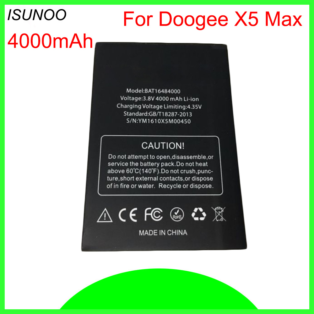 Mobile Phone Parts For Doogee X5 Max Battery Batterie Bateria Accumulator Akku For Doogee X5 Max Pro 4000mah