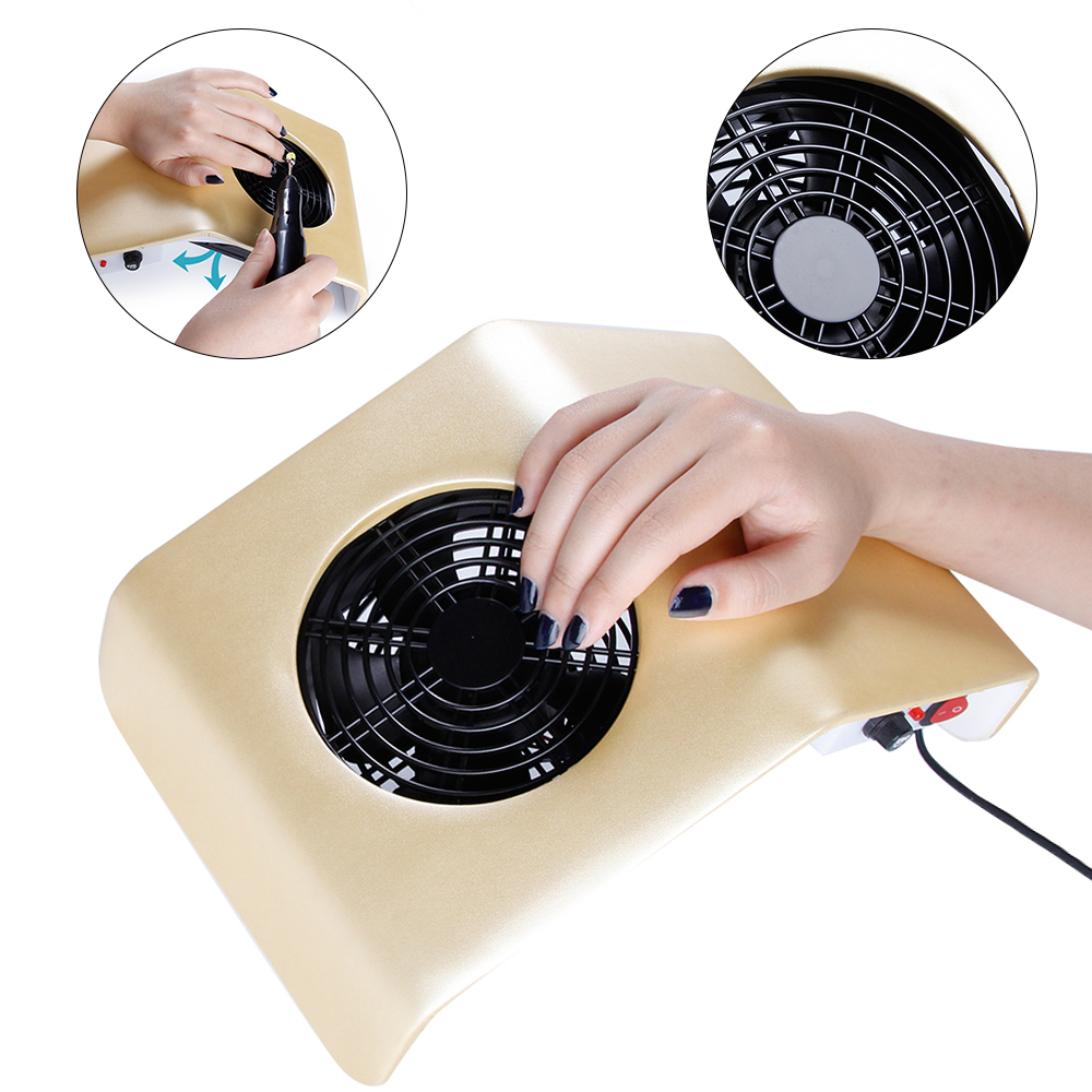 Image 2 - 30W Nail Dust Collector Manicure Vacuum Cleaner UV Gel Tip Dust Cleaner Manicure Extractor Vacuum Manicure Dust Collector Tools-in Nail Art Equipment from Beauty & Health