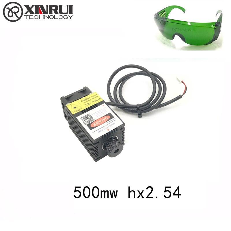 Pouvoir réel 500/1000/1600/2500 mw 405/445NM en se concentrant bleu violet laser module laser gravure diode hx2.54 2 p port