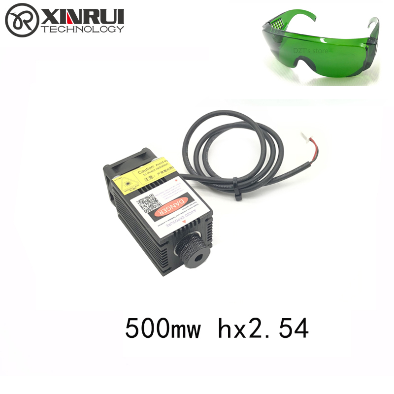 Real Power 500/1000/1600/2500mw 405/445NM Focusing Blue Purple Laser Module Laser Engraving Diode Hx2.54 2p Port