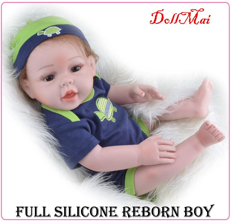 Full Silicone Vinyl Reborn Babies Boy Dolls 20 Inch 55cm