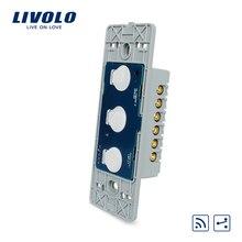 Livolo США Стандартный База стены света Сенсорный экран удаленного коммутатора, AC 110 ~ 250 В, 3 Gang 2Way, без стеклянной панели, VL-C503SR