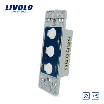 Livolo US standard Base Of  Wall Light Touch Screen Remote Switch, AC 110~250V, 3Gang 2Way, Without glass panel, VL-C503SR - DISCOUNT ITEM  10% OFF All Category