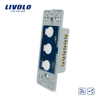 Manufacturer Livolo AC 110 250V The Base Of Wall Light Touch Screen Remote Switch 3Gang 2Way
