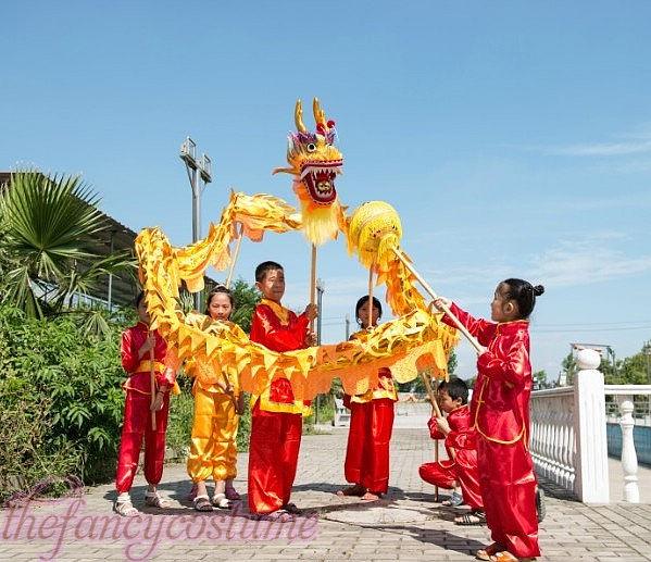 դեղին ոսկե երեխաների չափս ՉԻՆԱԿԱՆ - Կարնավալային հագուստները - Լուսանկար 2