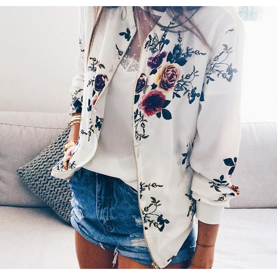 HTB1ql5LNAvoK1RjSZFwq6AiCFXa9 Floral Spring Women Bomber Jacket Plus Size Short Female Coat Zipper Chaqueta Outwear Long Sleeve Women's Jackets