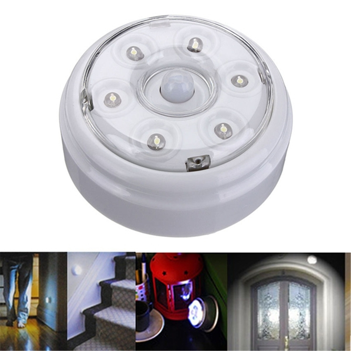 Portable Infrared PIR AUTO Sensor Motion 6 LED Night Light Wireless Detector Lamp Home Door Closet Cabinet Corridor Brightness 2pcs set stainless steel 90 degree self closing cabinet closet door hinges home roomfurniture hardware accessories supply