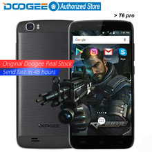 Doogee T6 pro  mobile phones 5.5Inch HD 3GB RAM+32GB ROM Android6.0 Dual SIM MTK6753 Octa Core 13.0MP 6250mAH WCDMA LTE WIFI GPS