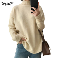 HziriP 10 Colors Turtleneck Sweater Women 2017 Autumn Winter Loose Casual Warm Solid Pullover Lady Knitwear