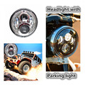 7 inch 65W round LED Headlight for Harley 12V 24V Led Driving Lamp for FLS FLSS FLSTC FLSTF FLSTFB FLSTFBS Touring parking light