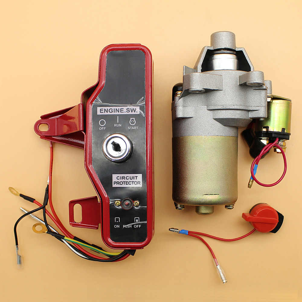 starter motor ignition switch control box key kit fit honda gx160 gx200  chinese 168f 170f 2kw