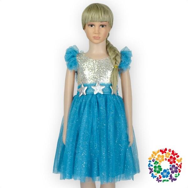 5aa75b4c3b Najnowszy turquoise dziewczyny frock wzory sukienka 1-6 lat stare baby girl  olśniewająca suknia wieczorowa