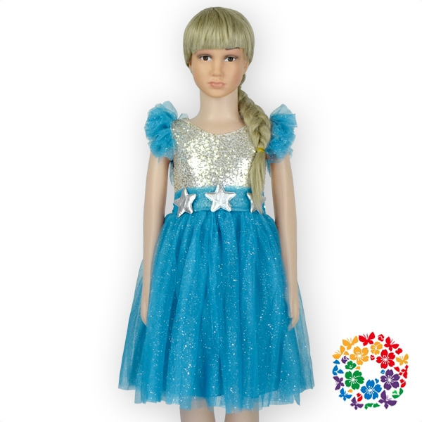 Free Shipping European Style Fashion Fancy Design Tulle: Newest Turquoise Girls Frock Dress Designs 1 6 Years Old