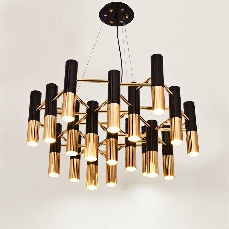 Creative industriel pendentif lumière noir + or cylindre Droplight chambre salon salle à manger cuisine luminaire