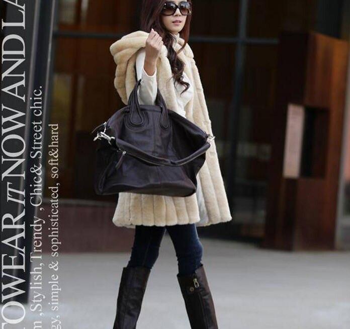 Colete De Pele Feminina Новая модная шуба из искусственного меха Зимний женский жилет из кроличьего меха размера плюс M-XXXL жилет из искусственного меха с капюшоном