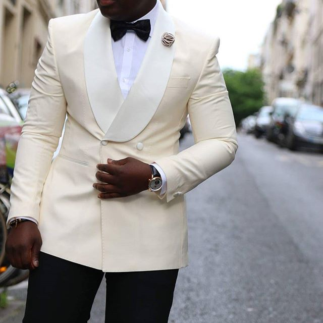 2019 New Casual Style Ivory Business Formal Mens Suits Men S Fashion