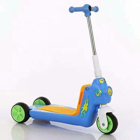 2 en 1 bébé voiture enfants Scooter Tricycle multi-fonction enfant Scooter enfants monter sur voiture Balance vélo bébé marcheur avec roues - 2