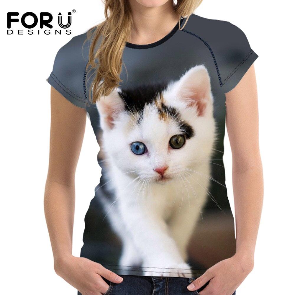 FORUDESIGNS Прекрасні 3D котикові принти - Жіночий одяг