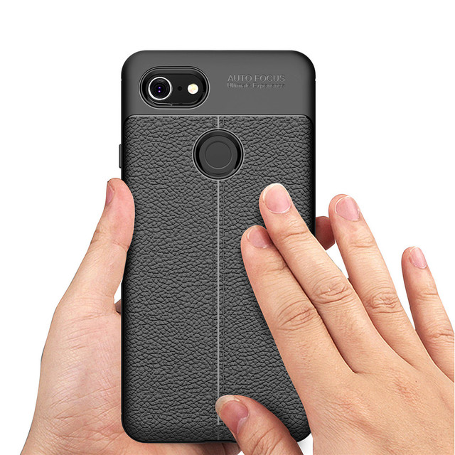 watch efe2c 30af4 US $2.83 29% OFF|Luxury Soft TPU Case for Google Pixel 2 3 XL Lite Case  Leather Pattern Slim Fit Full Protection Cover for Google Pixel 3 Lite  XL-in ...