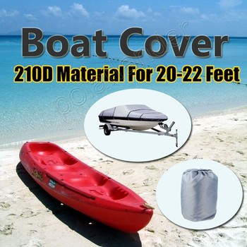 2015 Boat Cover 210D Oxford V-Hull Speedboat Cover 17-19ft High Quality Prevent UV Sunproof Waterproof Grey