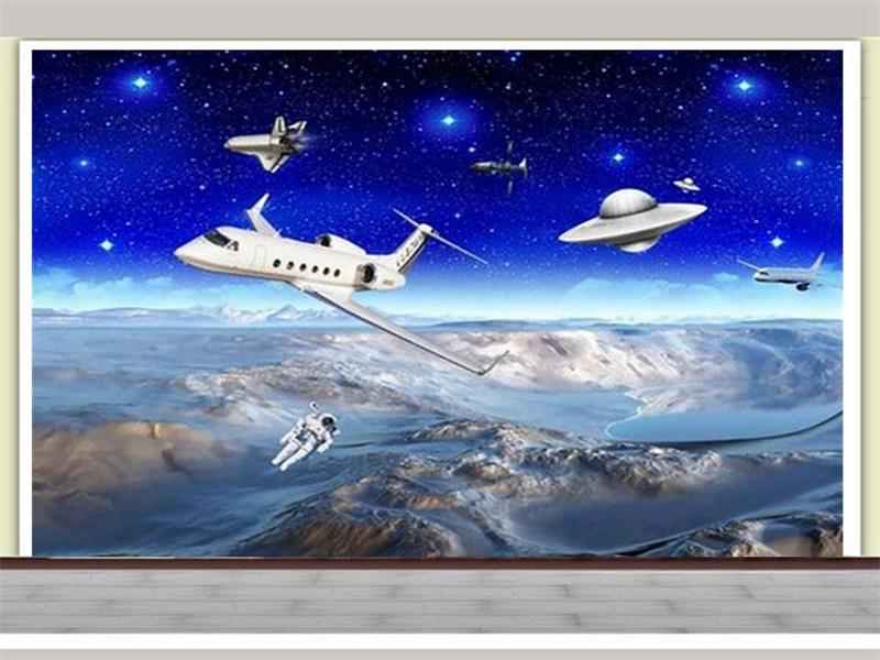 custom 3d photo wallpaper kids room mural Space Moon astronauts 3d photo painting TV background non-woven wallpaper for wall 3d 3d wallpaper custom mural non woven 3d room wallpaper black and white circle line 3 d painting photo 3d wall murals wallpaper