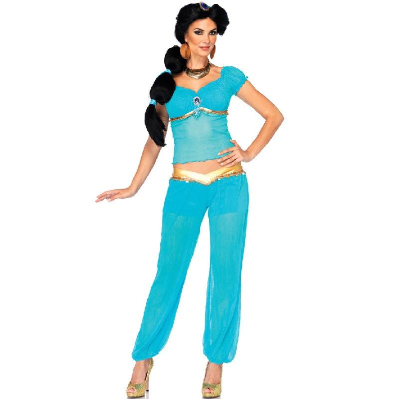 Arabian Princess Genie Aladdin Fancy Dress Costume Jasmine Dancer Outfit