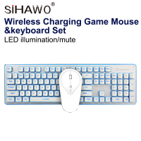 Keyboard And Mouse Set LED Illumination/Mute Charging Game Keyboard & Mouse Set Wireless Keyboard And Mouse Computer Peripheral