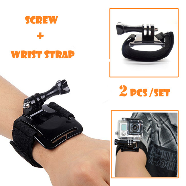 go pro camera accessories Cheap arm wrist band with screw for GoPro Hero 4 Session hero 3+ 3 2 1 Sports DV SJ4000 sj5000 sj6000
