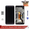For HTC Desire 626 626G 626W D626 LCD Display Touch Screen Digitizer Assembly With Frame Replacement Parts