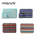 MOSISO Bohemian Canvas 11.6 13.3 15.6inch Sleeve Case For Macbook Air Pro Notebook Bag Cover With Small Pouch Carrying Case Bags