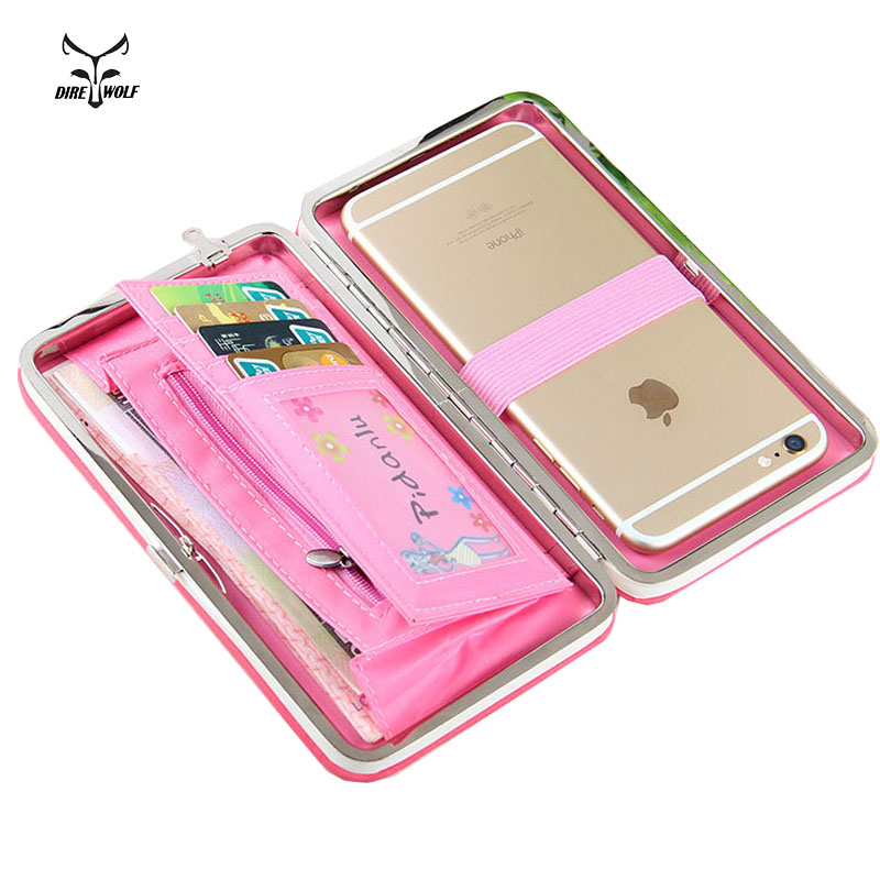Female Wallet  Women Purse  Coin Money Card Holders Cellphone Pocket Money Bag Clutch Phone Pocket Lady Wallet For iPhone