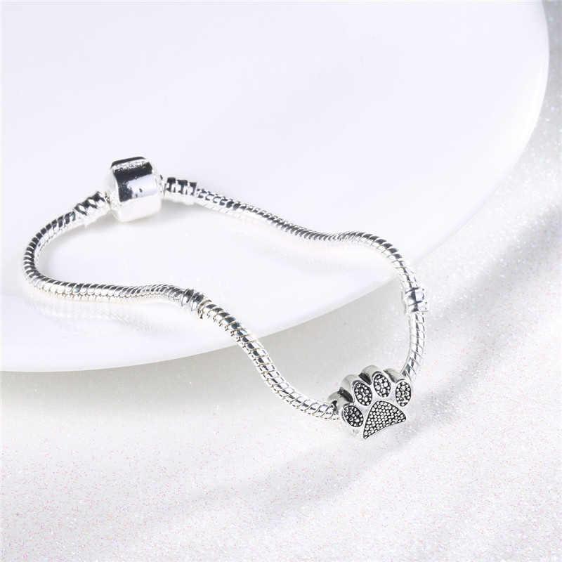 2018 New Fashoin Bracelet Tassut Cat Dog Paw Claw Bead Charms Bracelet Jewelry Lovely Animal Bracelets for Women pulseras