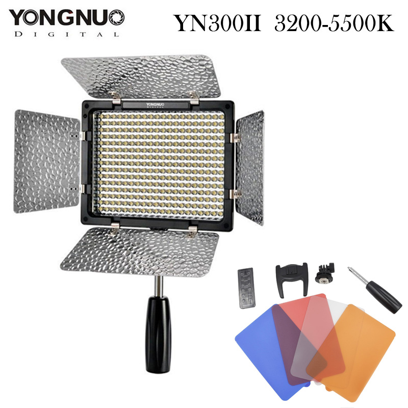YONGNUO YN300 II LED Video Light 300 LED Lamp Lights Photographic Lighting 3200-5500K for Photo Studio DSLR Camera Camcorder