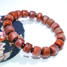 Natural South Red Agate safety button Bracelets Drop Shipping Lucky Amulet Nan Hong Agete Bracelet & bangles For Women Men Gift