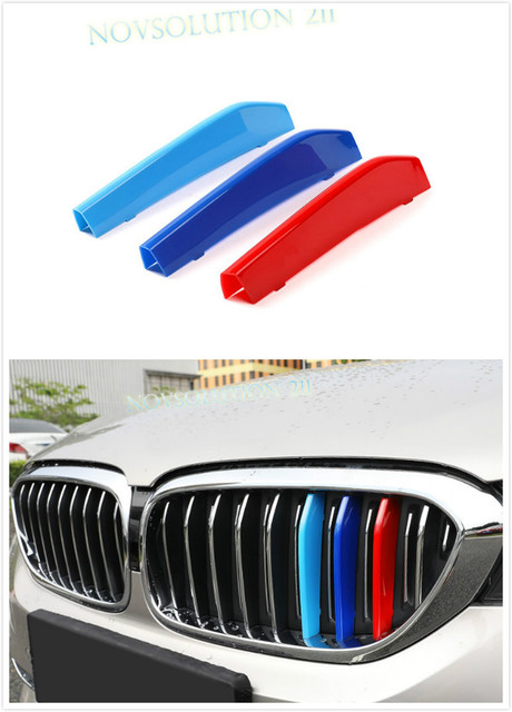 FOR BMW 5 SERIES G30 2017 2018 Exterior Accessiores Car 3 Colors Central Grill Grille Decoration