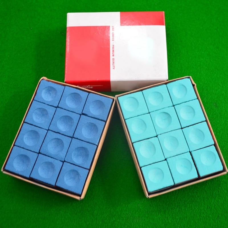 12Pcs Snooker Billiard Chalks High Quality Pool Cue Stick Chalk Oily Dry Billiard No-slip Chalk Sport  Indoor Accessories
