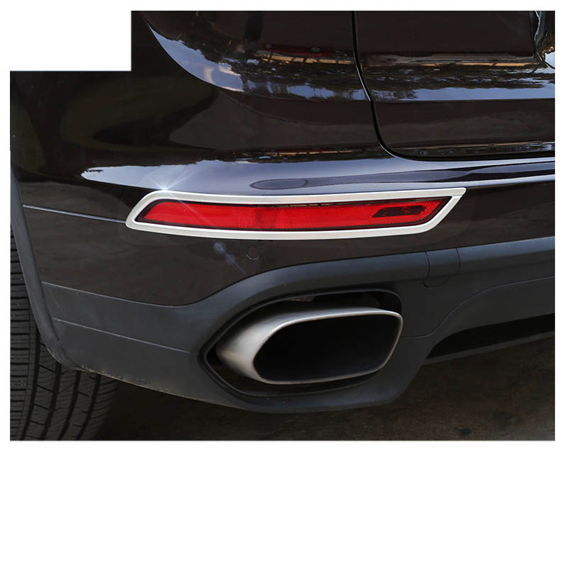 lsrtw2017 stainless steel car rear fog light trims chrome for porsche cayenne 2011 2018 2019 2020 in Interior Mouldings from Automobiles Motorcycles