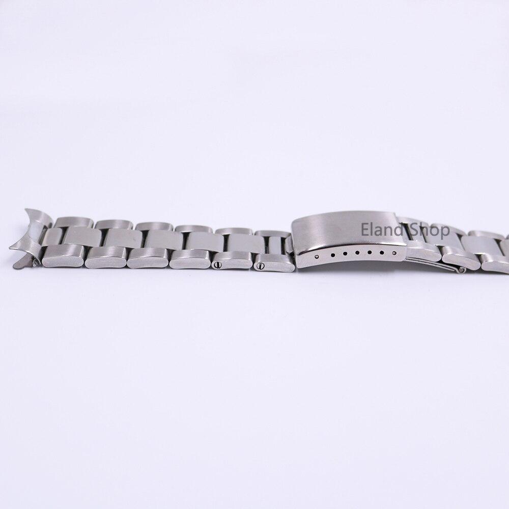CARLYWET 19 20mm Rustfrit stål Sølv Mellem polsk Hult buet ende - Tilbehør til ure - Foto 5
